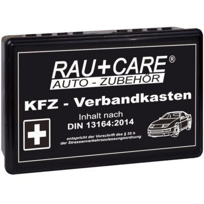 Elsősegélykészlet dobozos, B típusú DIN13164 szabvány szerinti személygépkocsihoz, fekete