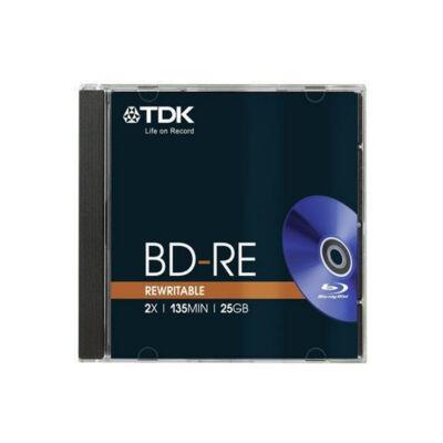 TDK BluRay BD-RE 25GB normál tok, újraírható Blu-ray lemez