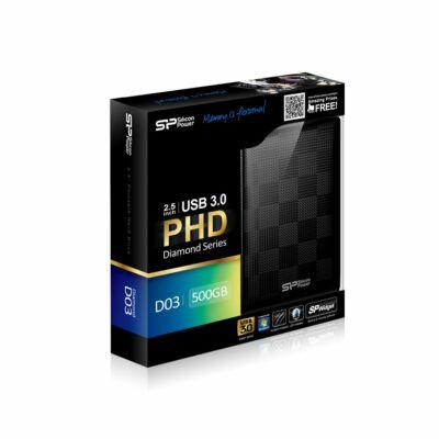 Silicon Power Diamond D03 500GB USB3.0 fekete külső merevlemez