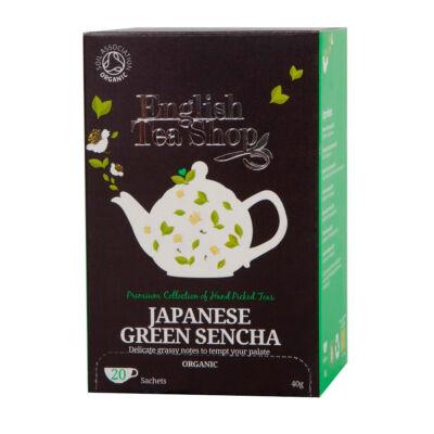ETS English Tea Shop bio Japán zöld sencha tea, 20 filter
