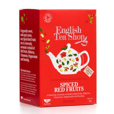 ETS English Tea Shop Bio Fűszeres Pirosgyümölcs Tea 20 db