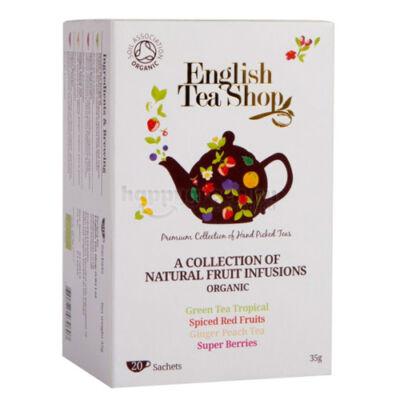 ETS English Tea Shop Bio Gyümölcstea variációk 20 db
