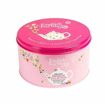 ETS English Tea Shop Bio Teaválogatás Fém Díszdobozban, Pink 24 db
