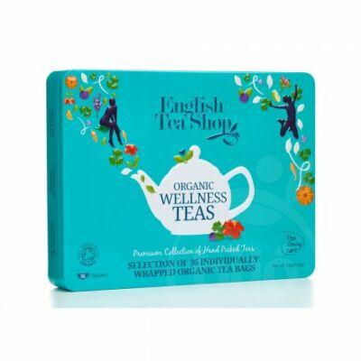 ETS English Tea Shop Ajándék Wellness Bio Teaválogatás Fémdobozban 36 db