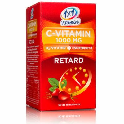 1x1 Vitaday c-vitamin 1000 mg+d3-vitamin+csipkebogyó retard 50db