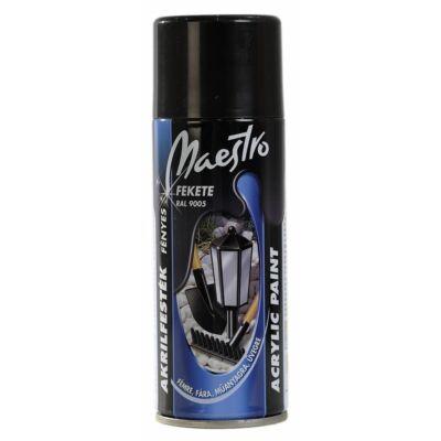 Maestro Festék akril fekete 400ml 9005