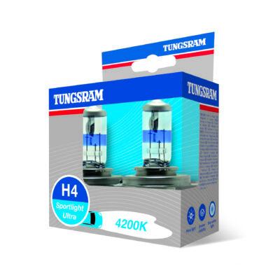 Tungsram Sportlight ultra H4 50440SBU autó izzó, 2db/csomag