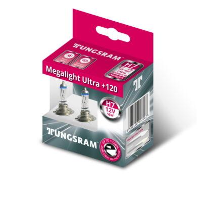 Tungsram Megalight Ultra +120% H7 58520SNU autó izzó, 2db/csomag