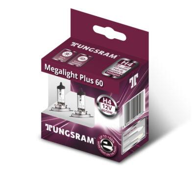 Tungsram Megalight Plus +60% H4 50440MPU autó izzó, 2db/csomag