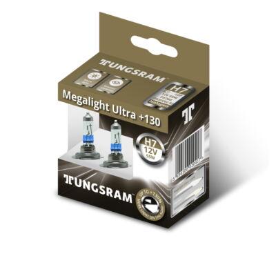 Tungsram Megalight Ultra +130% H7 58520XNU autó izzó, 2db/csomag