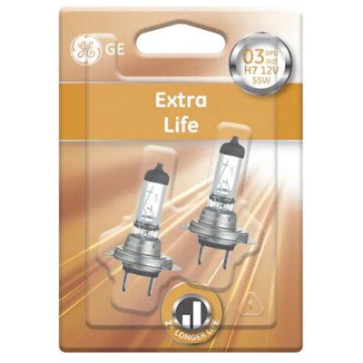 GE Extra Life H7 58520DPU autó izzó, 2db/csomag