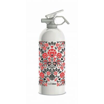 Design porral oltó ABC tűzoltó készülék - Virág mintás, 1 kg