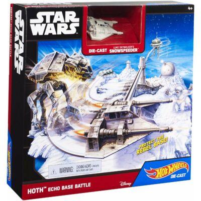 Hot Wheels Star Wars Csillaghajó Hoth Echo Bázis csata közepes pálya
