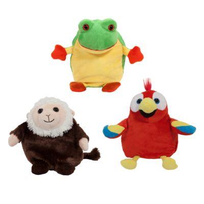 Pop Out Pets plüss esőerdő (majom, papagáj, béka)