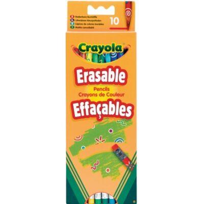Crayola Radírvégű színesceruza, 10 db-os