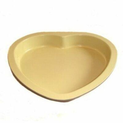 Perfect Home 10362 kerámia bevonatos szív sütőforma, zöld