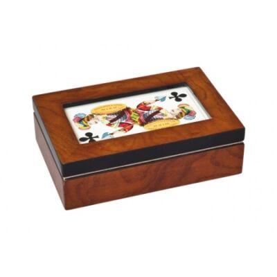 Piatnik Üvegfedeles kártyatartó