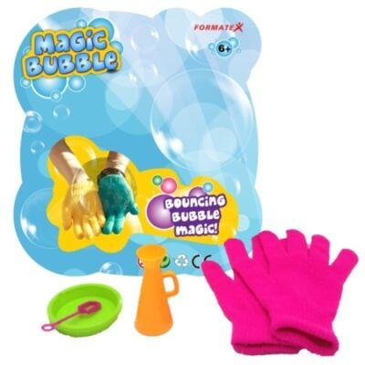 Magic Bubble - Megfogható buborékfújó pink-kék kesztyűvel