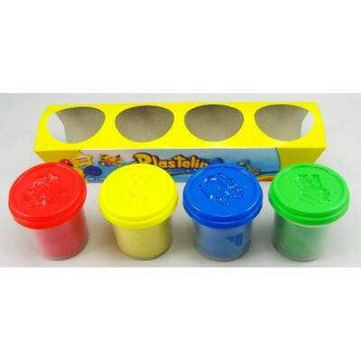 Plastelino 4 db-os színes gyurma